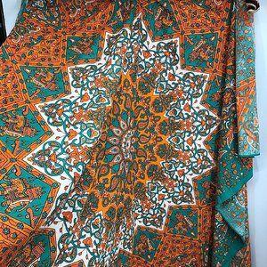 Orange Green Red Boho Wall Tapestry NEW